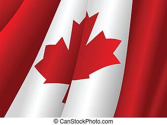 Vector illustration of Canadian flag