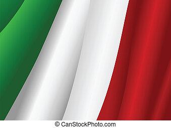 Vector illustration of Italian flag