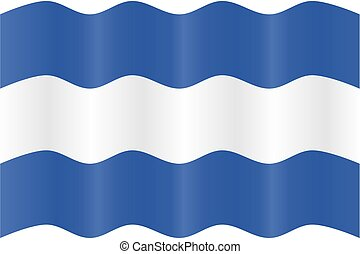 Waving flag - Vector image of waving a flag.