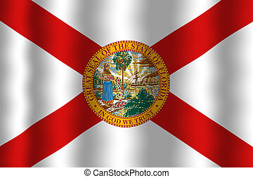 Waving Florida Flag