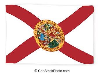 Waving Florida State Flag