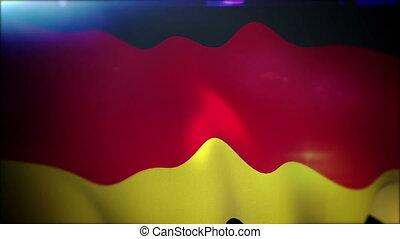"""Waving German Banner in Slow Motion"" - ""Optimistic 3d..."