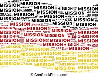 Waving German Flag Mosaic of Mission Text Items - Waving...