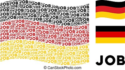 Waving German Flag Pattern of Job Text Items