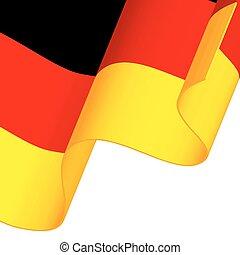 Waving Germany flag isolated on white background