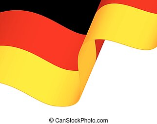 Waving Germany flag isolated on white background