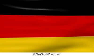 Waving Germany Flag, loop ready.