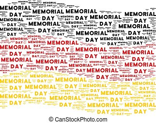 Waving Germany Flag Mosaic of Memorial Day Text Items