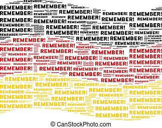 Waving Germany Flag Mosaic of Remember Text Items