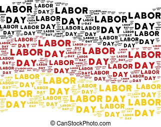 Waving Germany Flag Pattern of Labor Day Texts