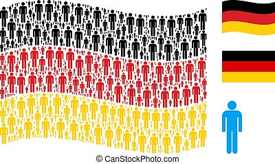 Waving Germany Flag Pattern of Man User Items