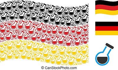 Waving Germany Flag Pattern of Retort Items