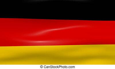 Waving Germany Flag