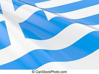 Waving greece flag concept
