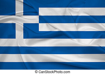 Waving Greece Flag