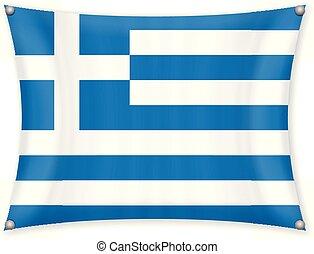 Waving Greece flag