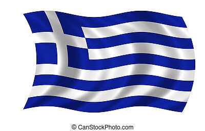 waving greek flag