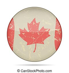 waving grunge flag of Canada