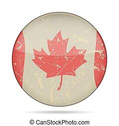 waving grunge flag of Canada