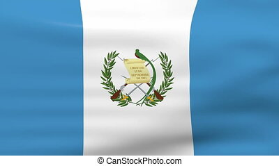 Waving Guatemala Flag, ready for seamless loop.
