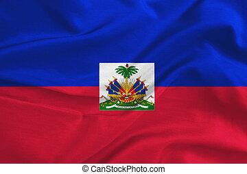 Waving Haiti Flag