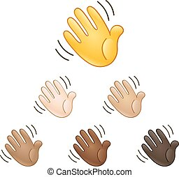 Waving hand sign emoji