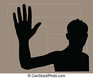 waving hand to good bye vector eps 10