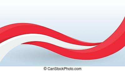 waving, incomum, modelo, cartaz, cartão, flag., nacional, modernos, forma., isolado, decoração, áustria, vetorial, desenho, voador, bandeira, logo., illustration.