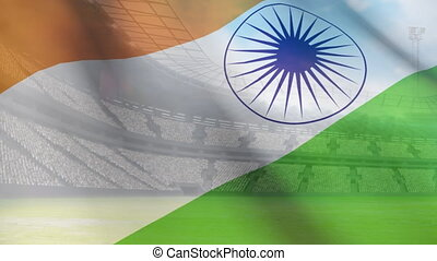 Waving Indian flag