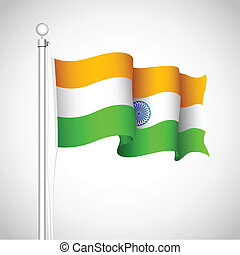 Waving Indian Flag