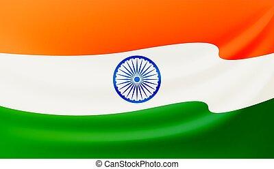 Waving Indian flag vector illustration