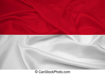 Waving Indonesia Flag