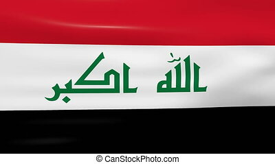 Waving Iraq Flag, ready for seamless loop.