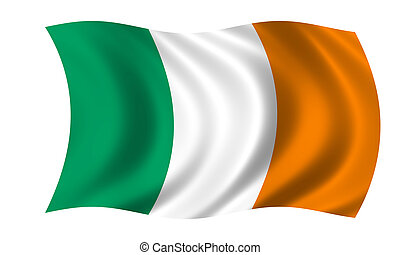 waving irish flag
