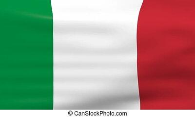 Waving Italy Flag, loop ready.