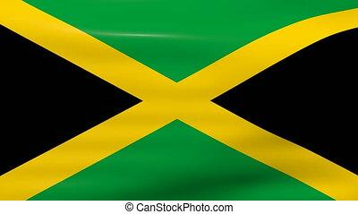 Waving Jamaica Flag, ready for seamless loop.