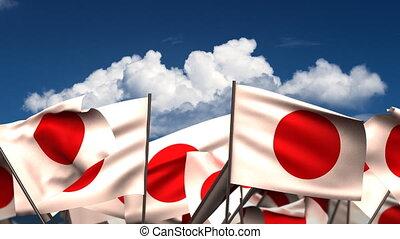 Waving Japanese Flags