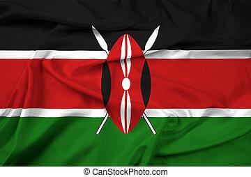 Waving Kenya Flag