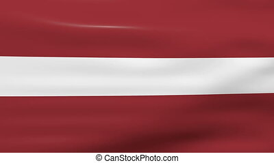 Waving Latvia Flag, ready for seamless loop.