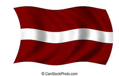 waving latvian flag