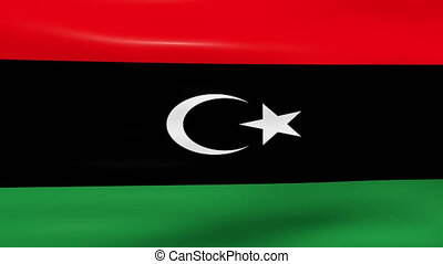 Waving Libya Flag, ready for seamless loop.