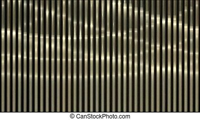 Waving light on metal strips background