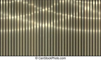 Waving light on metal strips