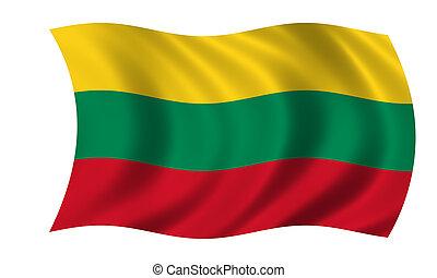 waving lithuanian flag