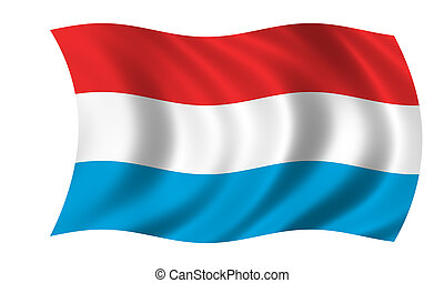 waving luxembourgian flag
