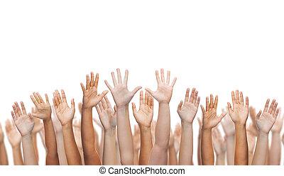waving, mãos humanas