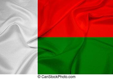 Waving Madagascar Flag