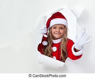 waving, menininha, santa