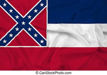Waving Mississippi State Flag
