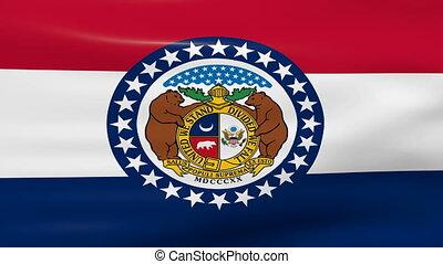 Waving Missouri State Flag